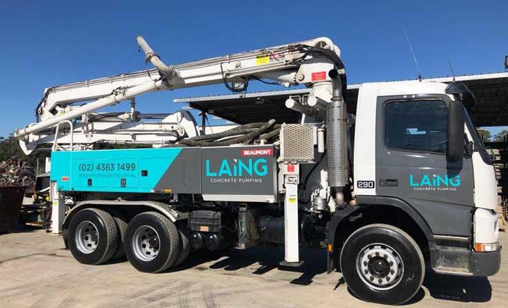 24M Schwing KVM24-H Boom Pump - Laing Concrete Pumping