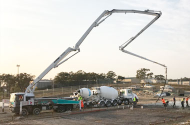 Z fold concrete truck