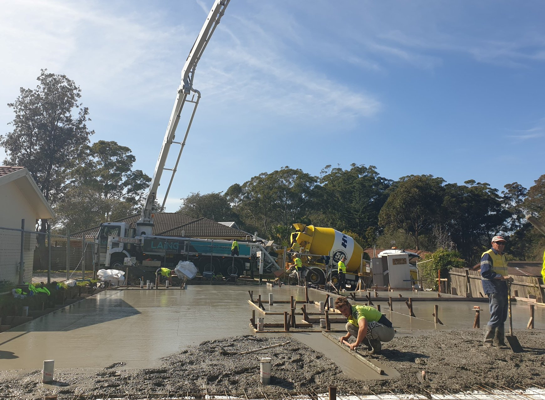 Concrete Pumping For Hotondo Homes At Kincumber