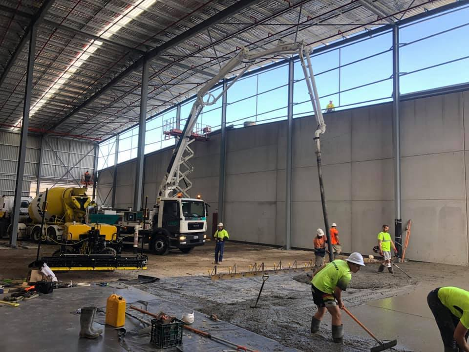 Concrete pumping in tight spaces