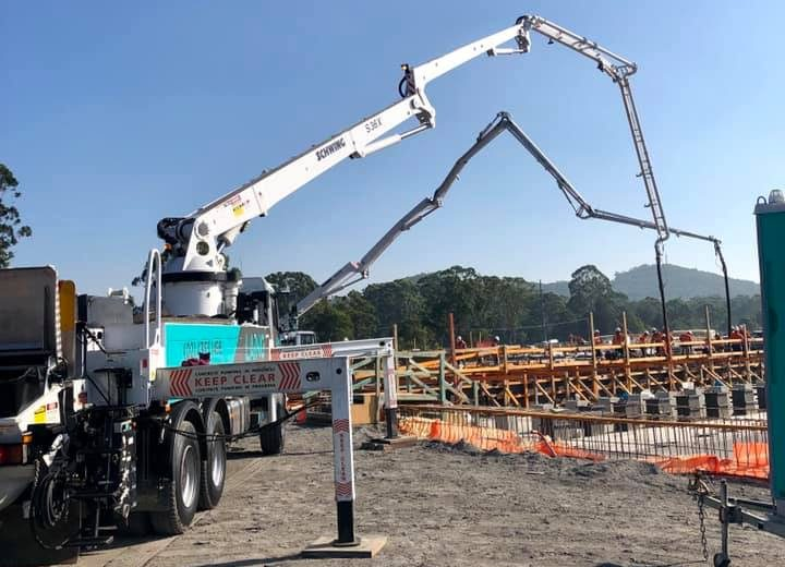 Pumping 550m3 Concrete