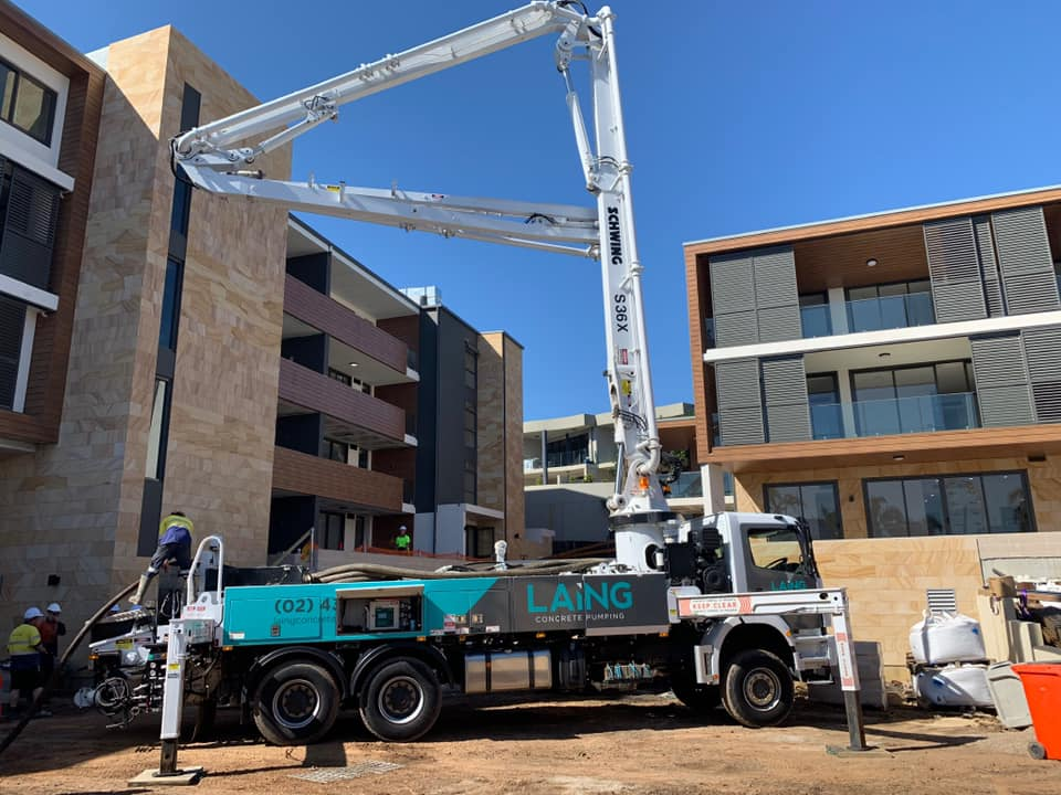 S36X Boom Pump at Elysium Apartments Terrigal Beach
