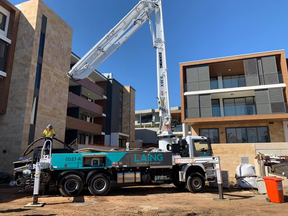 S36X Concrete Pump at Elysium Apartments Terrigal Beach