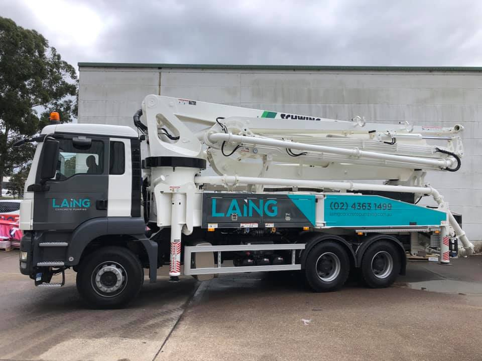 Schwing S38SX Truck Mounted Concrete Pump